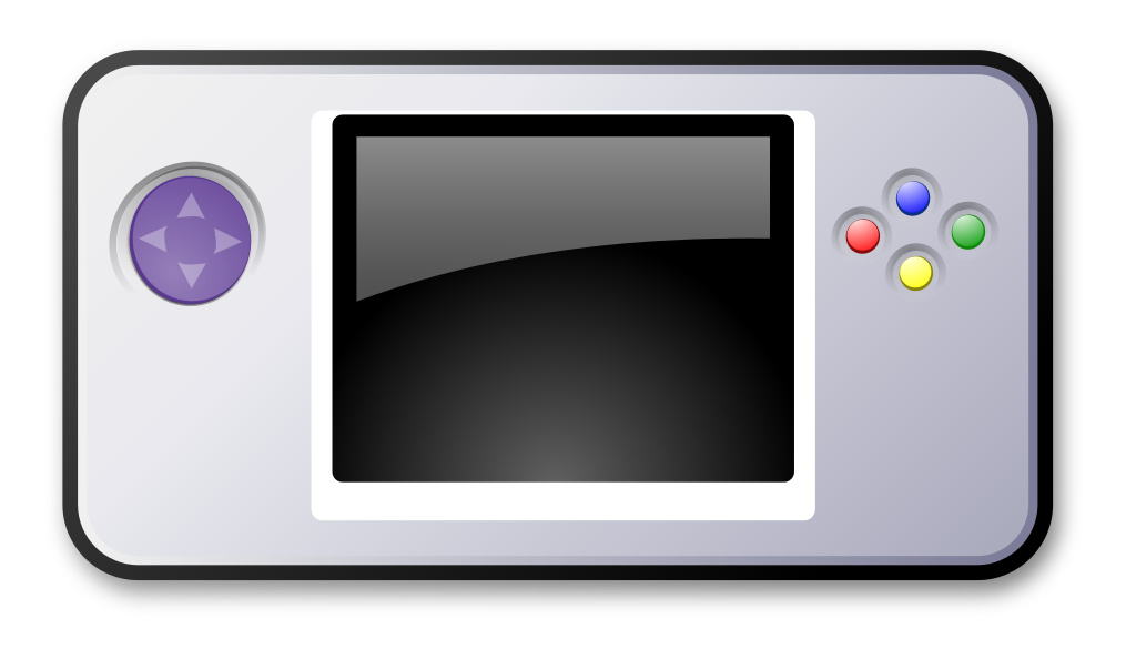Games clipart handheld. Game console clipground filehandheld