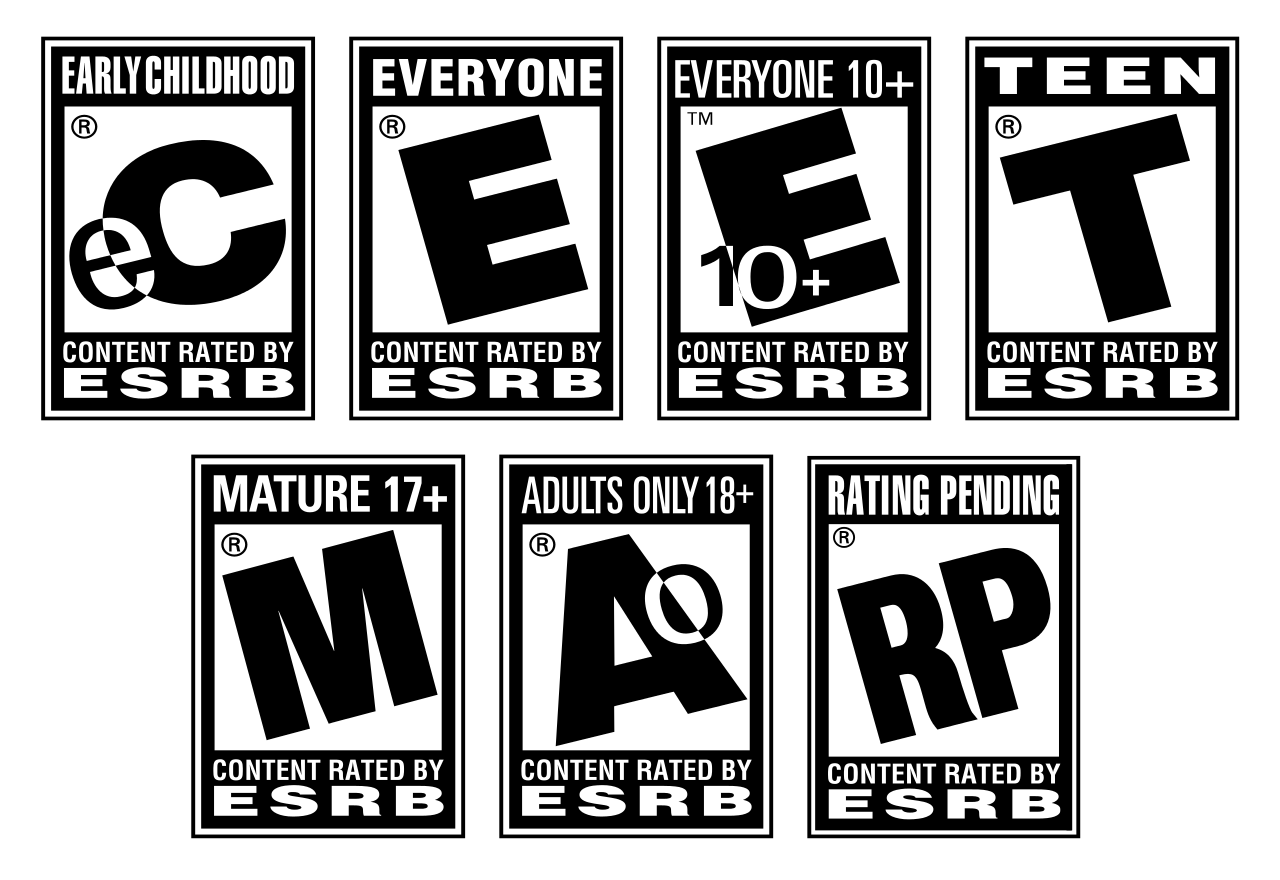 File esrb ratings svg. Games clipart literacy game