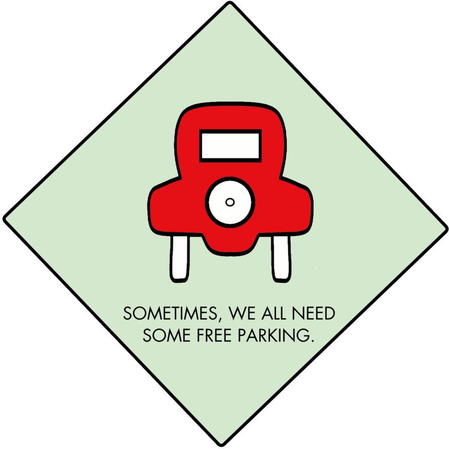 Monopoly free board game. Parking lot clipart car park