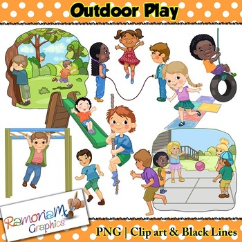 Playground clipart playground game. Kids outdoor play and