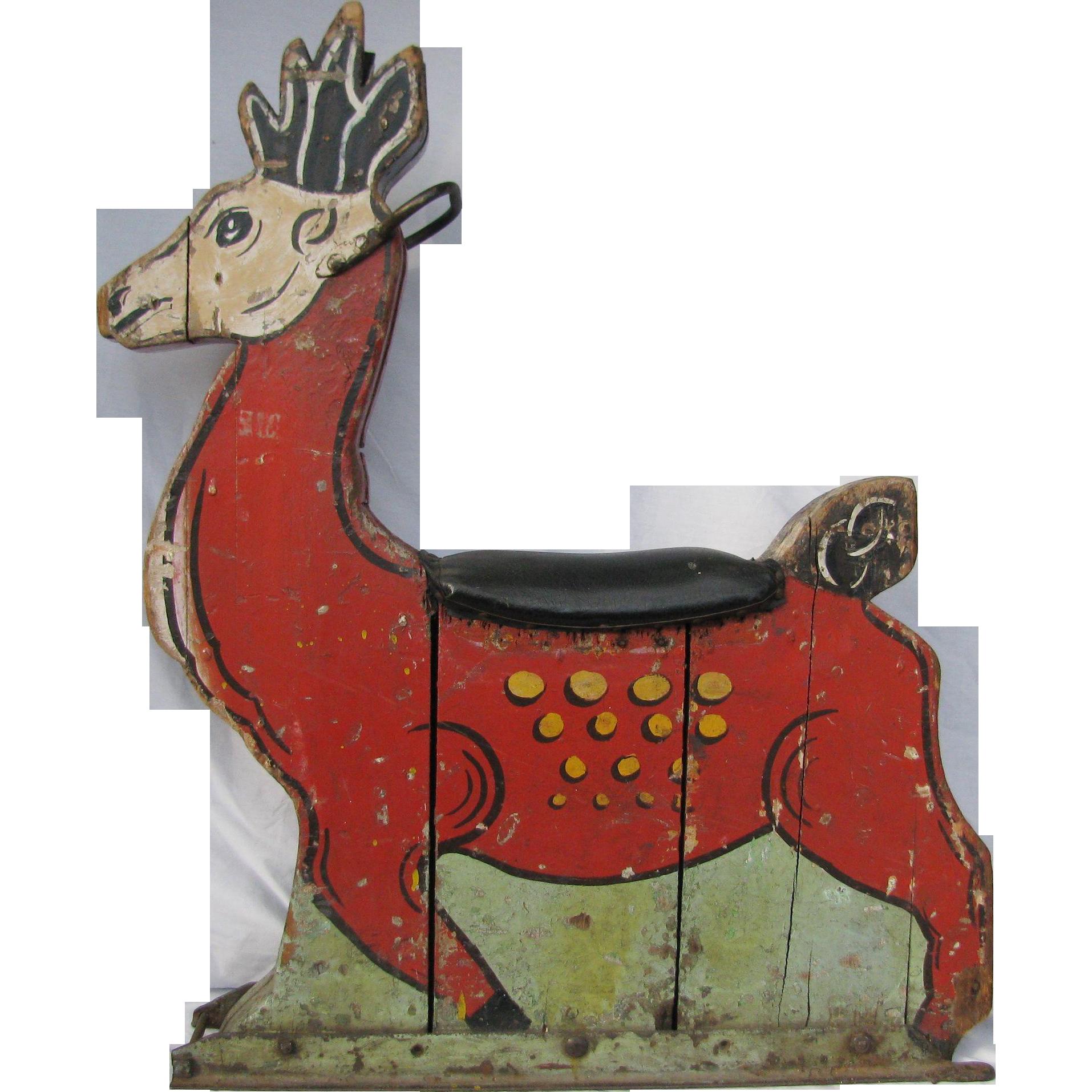 Antique carousel ride vintage. Games clipart reindeer game