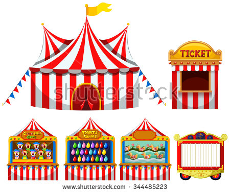 Carnival . Games clipart stalls