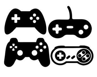 Game controllers dxf file. Games clipart svg