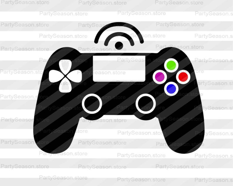 Game controller gamer file. Games clipart svg