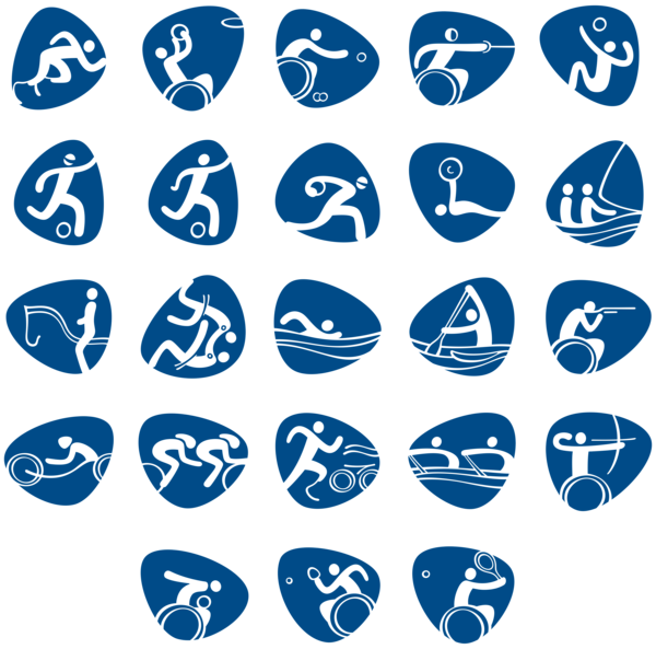 Games clipart transparent. Paralympic rio official png