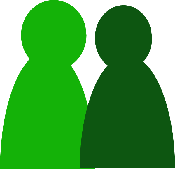 Two people clip art. Men clipart green