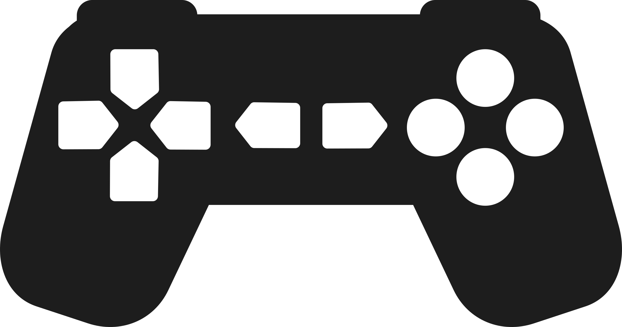 Game controller outline big. Gaming clipart