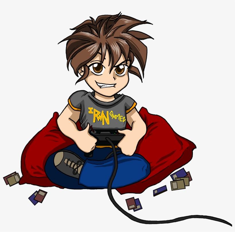 Anime gamer transparent . Gaming clipart boy