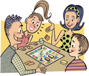 Games with sidekicks . Gaming clipart family game