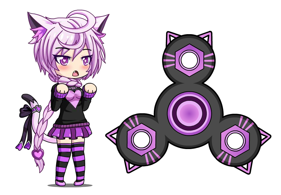Delicious melnya anime fidget. Gaming clipart game spinner