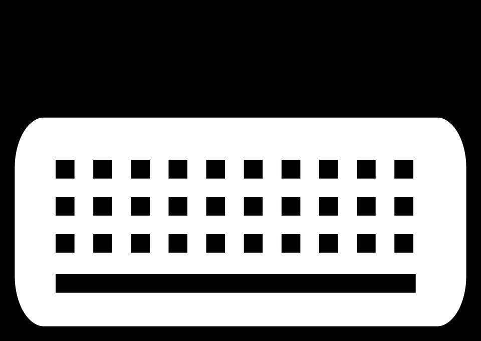 Computer keyboard graphic desktop. Writer clipart typing