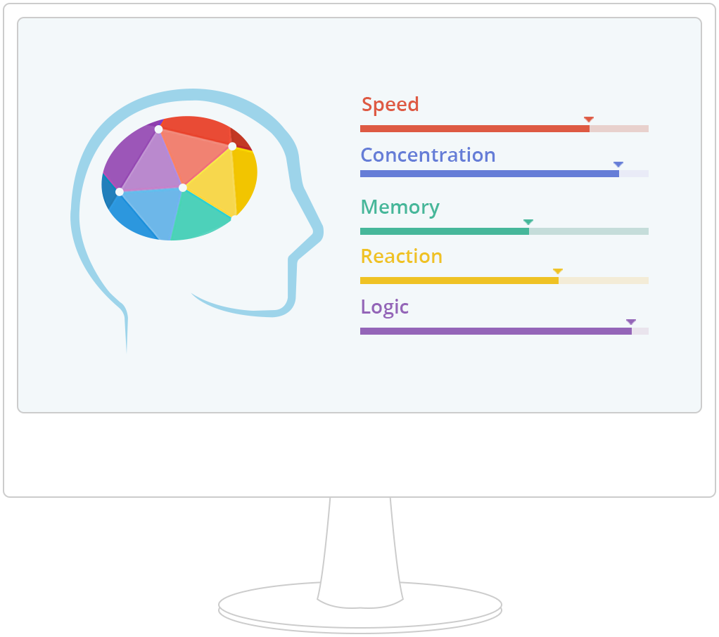Brain games and training. Gaming clipart memory game