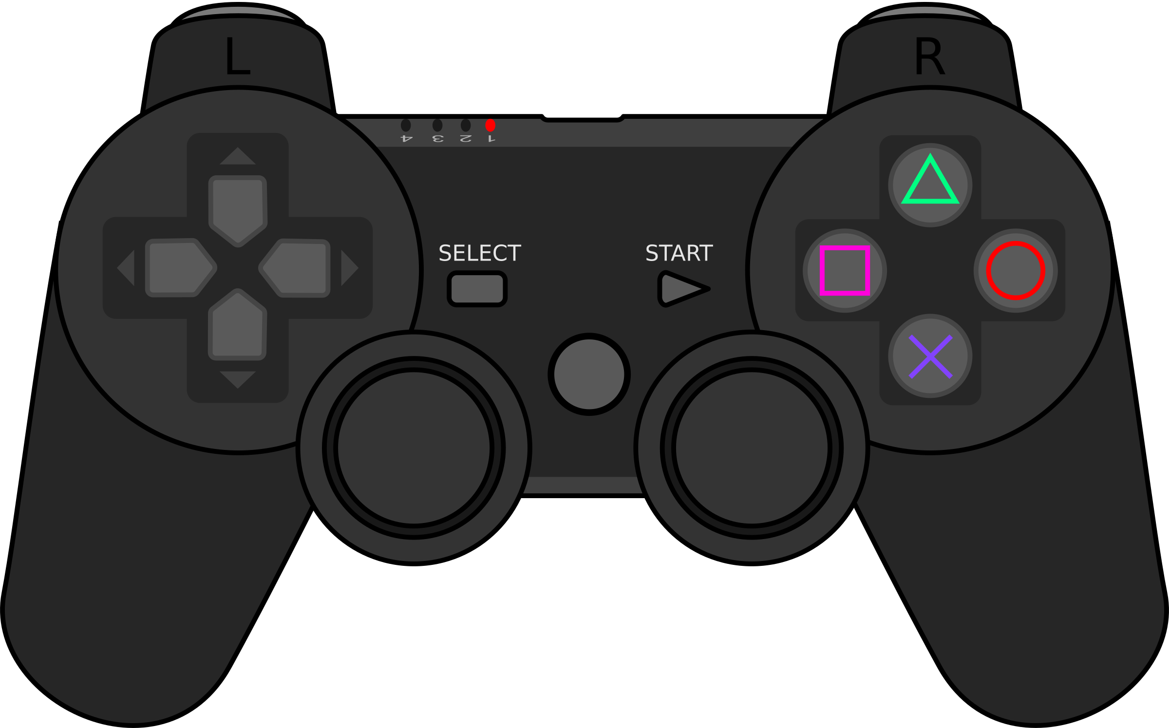 Gaming clipart ps3 controller. Playstation gamepad big image