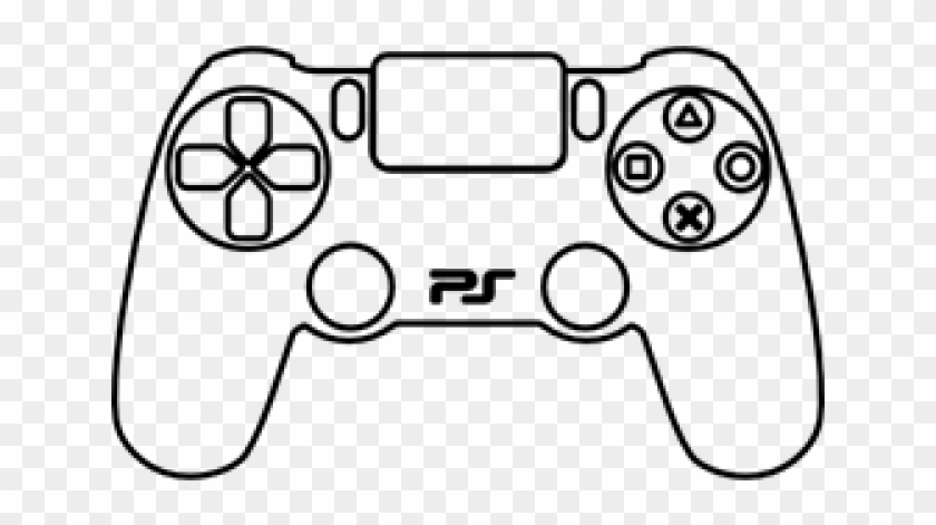 Gamepad ps controller draw. Gaming clipart ps4 console
