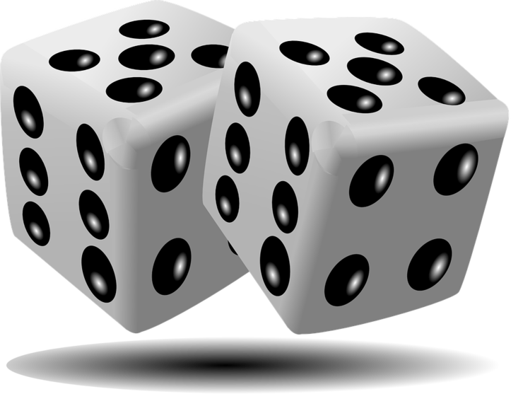 Quarterly helps no chance. Gaming clipart roll dice