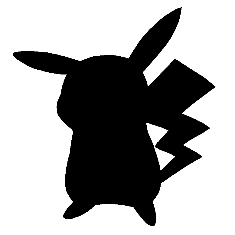 Pokemon silhouettes google search. Pokeball clipart silhouette