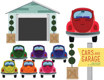 Cars and clip art. Garage clipart