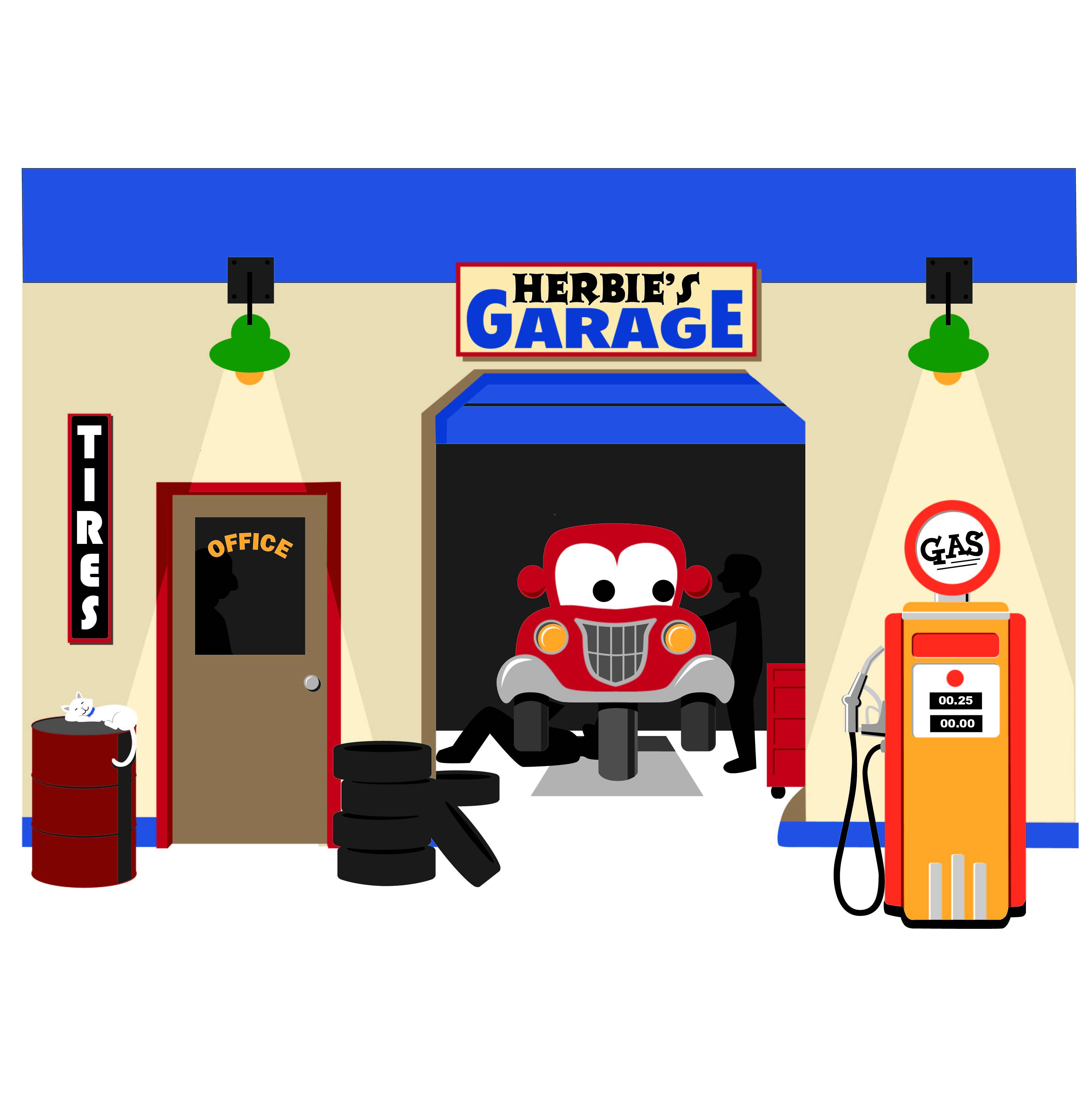 Garage clipart. Clip art panda free