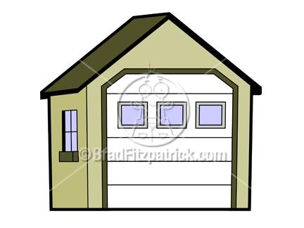 Garage clipart. Cartoon clip art royalty