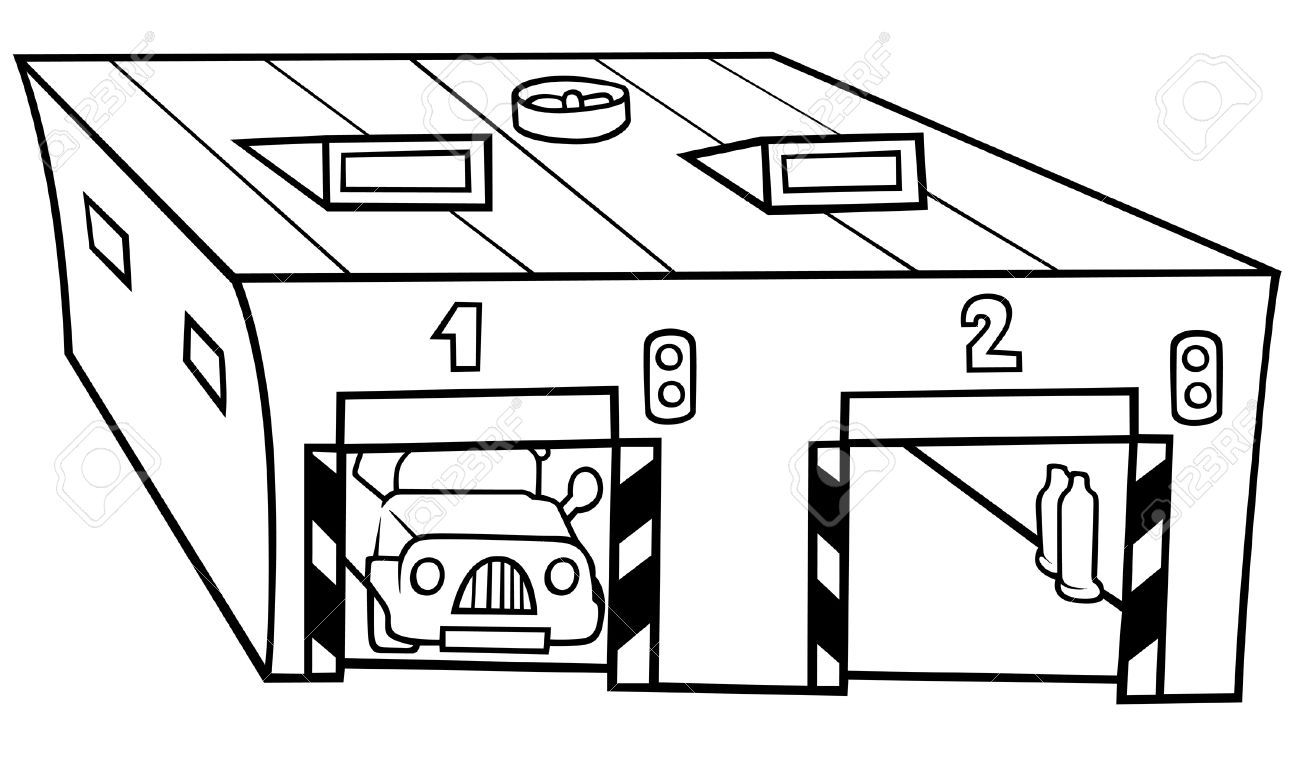 Free garage cliparts download. Parking lot clipart black and white