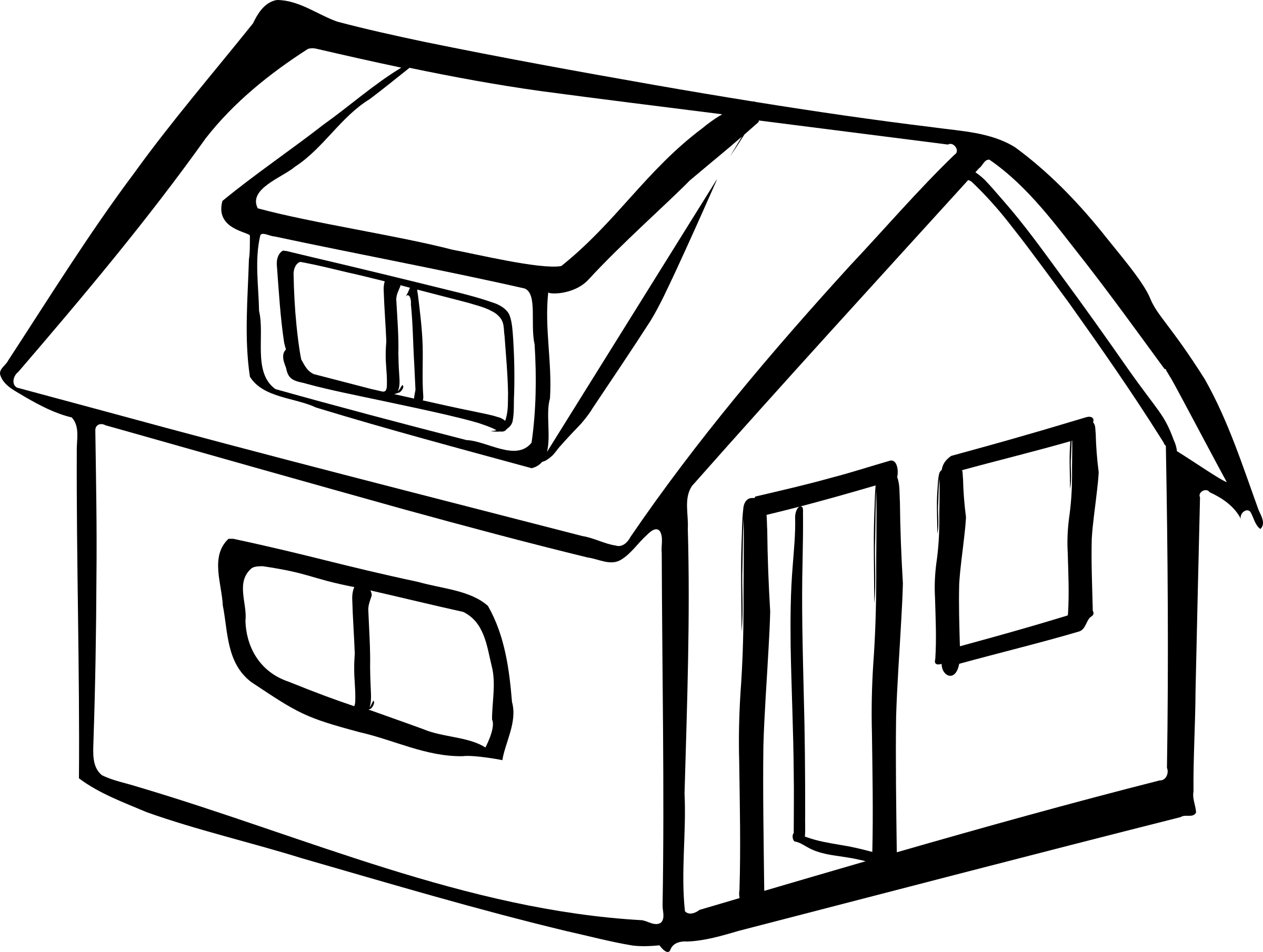House outline png. Clipart blank detached big