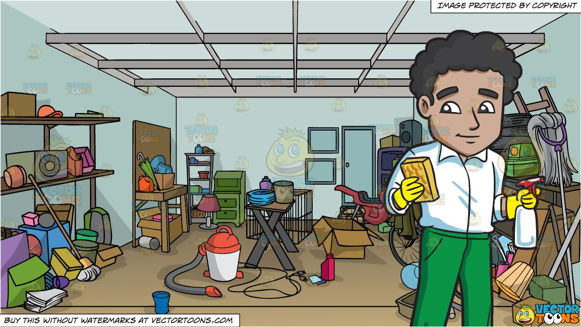 Garage clipart garage cleaning. A man with sponge