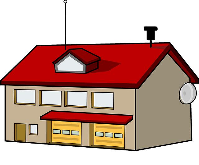 garage huge freebie. House clipart diagram