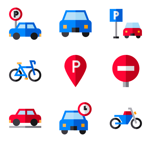 Parked car icons free. Parking lot clipart underground parking