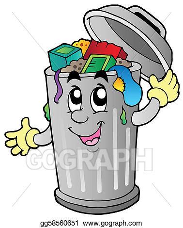 Garbage clipart. Vector illustration cartoon trash