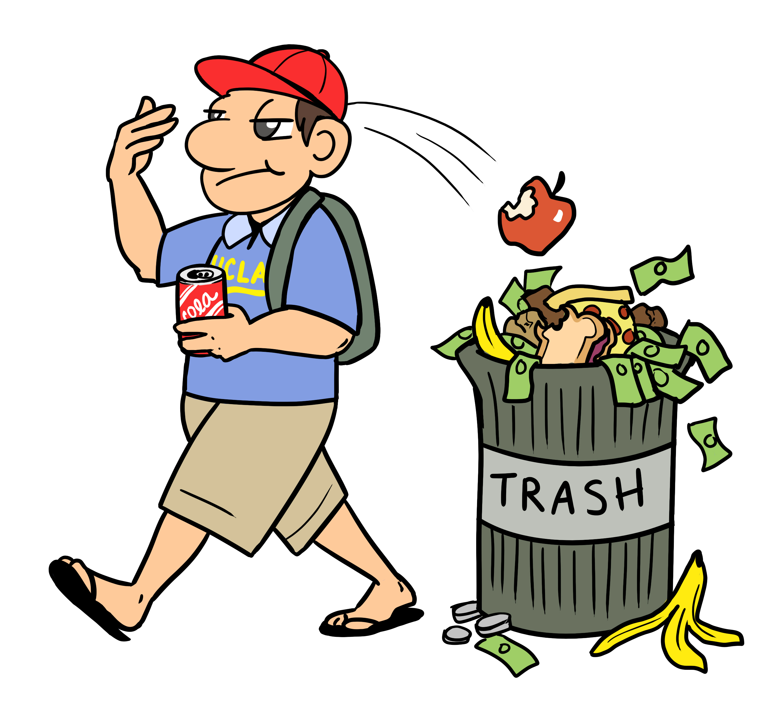 collection of throwing. Garbage clipart