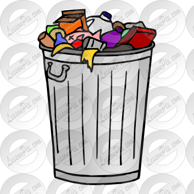 Garbage clipart. Picture for classroom therapy