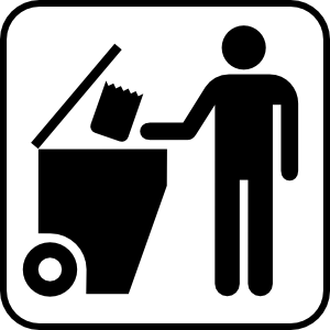 Trash logo pencil and. Garbage clipart