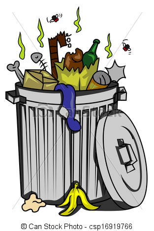 Garbage panda free images. Can clipart illustration