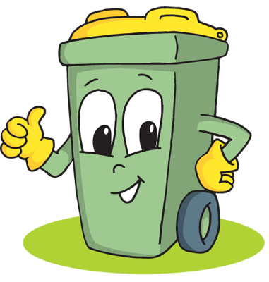 Cartoon trash can free. Garbage clipart animated