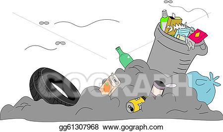 Garbage clipart bad odor. Vector stock rubbish disposed