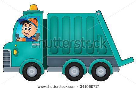 Cartoon truck google search. Garbage clipart bin lorry