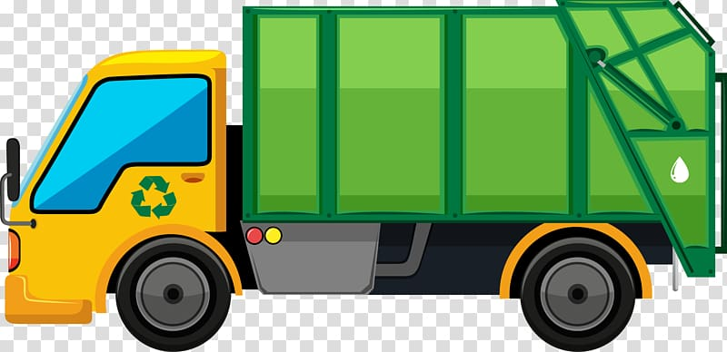 Green and yellow dump. Garbage clipart bin lorry