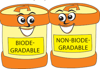 Non waste station . Garbage clipart biodegradable