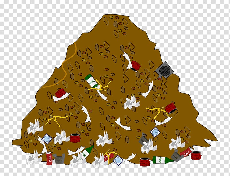 Garbage clipart cartoon. Waste container landfill trash