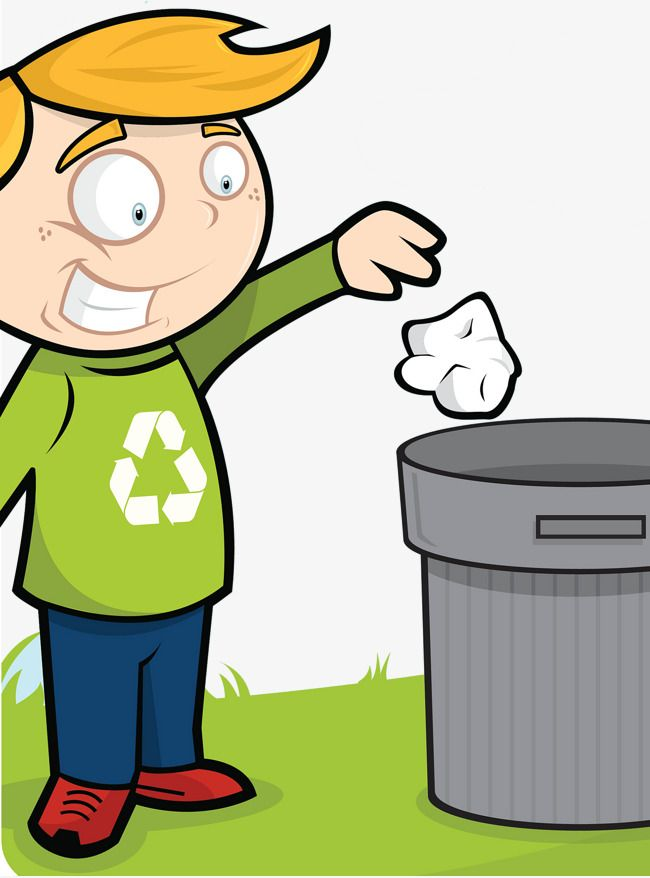 Throwing trash cans good. Garbage clipart classroom