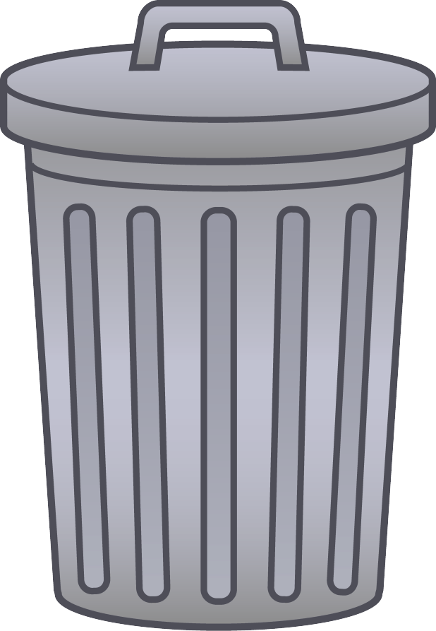 Garbage clipart clip art. Cartoon trash can cartoonview