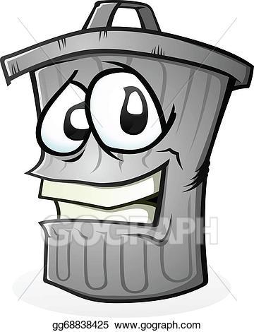 Garbage clipart dusbin. Vector illustration clean trash