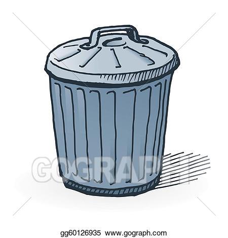 Vector american trash can. Garbage clipart dusbin