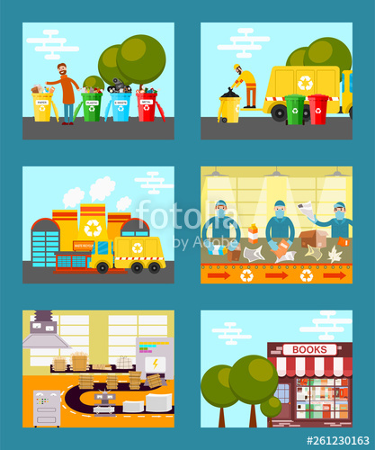 Garbage clipart factory waste. Recycle save ecology concept