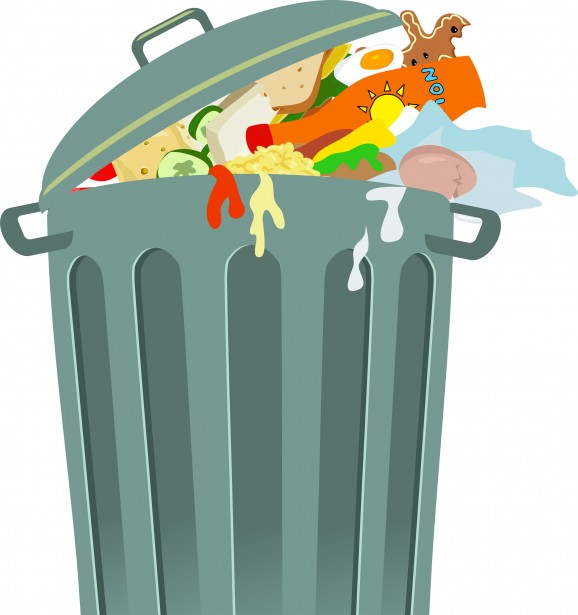 Trash can clip art. Garbage clipart food garbage