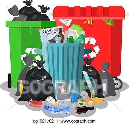 Garbage clipart garbage dumpster. Eps vector steel bin
