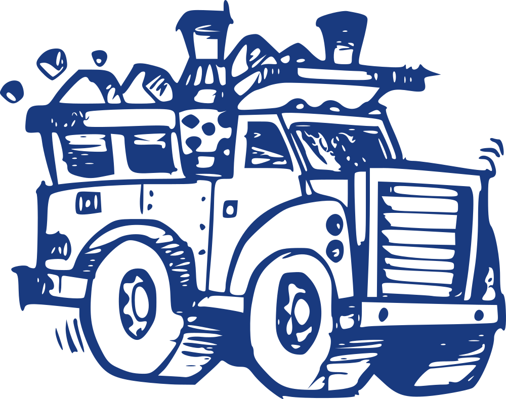 Onlinelabels clip art truck. Garbage clipart garbage place