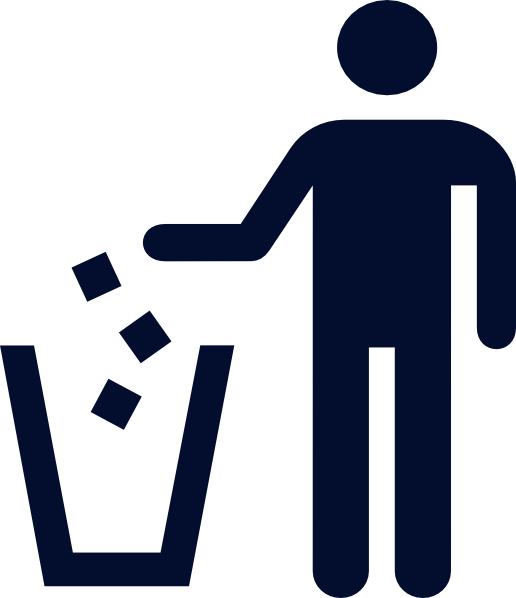 Blue trash man clip. R clipart litter