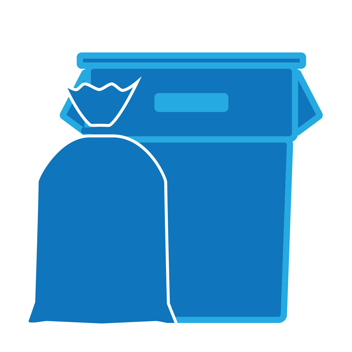 Garbage clipart household waste. Shop trash bags by