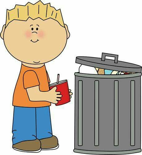 Pin by lucia hromadkova. Garbage clipart in school